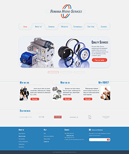 ROHS web template - homepage - graphic design, ux elements, ui elements, graphic design elements