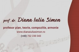 Diana Iulia Simon business card front - graphic design, ux elements, ui elements, graphic design elements