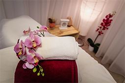 Lotus Spa Orchids on Massage Table - Detail 2 - architecture photography, photography, indoor, outdoor photography, outdoor, indoor photography, architecture, places, restaurants, pubs, spa, spas